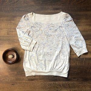 Marc Jacobs 100% Cotton Paisley Blouse, S